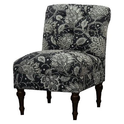 Threshold™ Tufted Back Slipper Chair - Black/White Floral