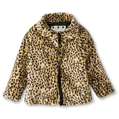 Infant Toddler Girls' Faux Fur Leopard Spot Coat