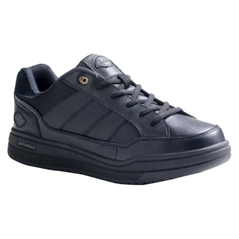 Men's Dickies® Athletic Skate Genuine Leather Slip Resistant Sneakers - Black