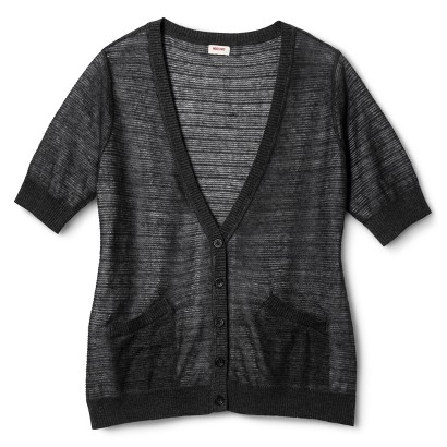 Plus Size Short Sleeve Cardigan-Mossimo Supply Co