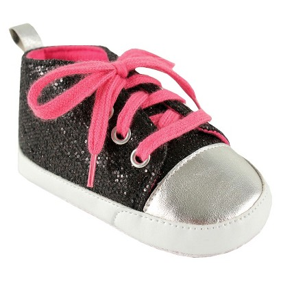 Luvable Friends™ Infant Girls' Pink Lace Sneakers - Black