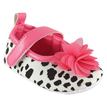 Luvable Friends™ Infant Girls' Spotted Mary Jane Shoe - Black/Pink