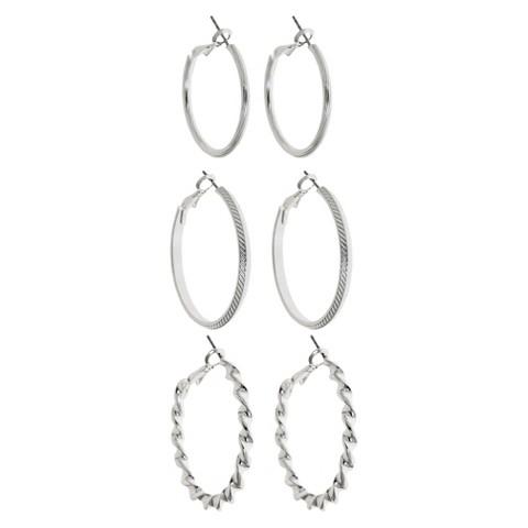 Women's Hoop Earrings - Silver