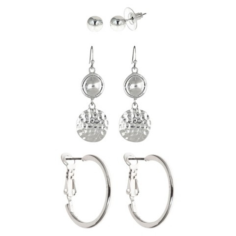 Women's Dangle Earrings - Silver