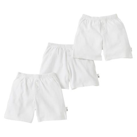 Burt's Bees Baby™ Infant Toddler Boys' 3-Pack Boxer Shorts - Dove White