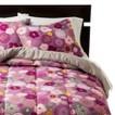 Room Essentials® Floral Mismatch Reversible Comforter - Purple