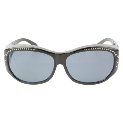 Oval Wrap-Around Sunglasses - Grey