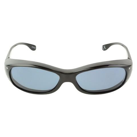 Oval Wrap-Around Sunglasses - Blue