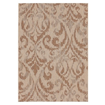 Francis Rectangular Patio Rug - Natural/Brown