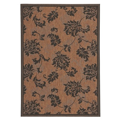 Sydney 5'x7' Rectangular Indoor/Outdoor Patio Rug - Bla