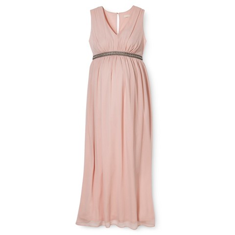 Maternity Sleeveless V Neck Maxi Dress-Merona®