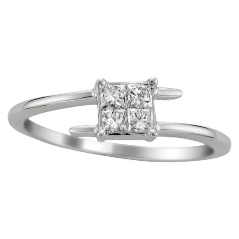 1/3 CT.T.W. Anniversary Ring in 14K White Gold - In Assorted Sizes