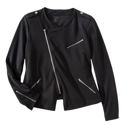 Women's Plus Size Long Sleeve Moto Jacket-Mossimo®