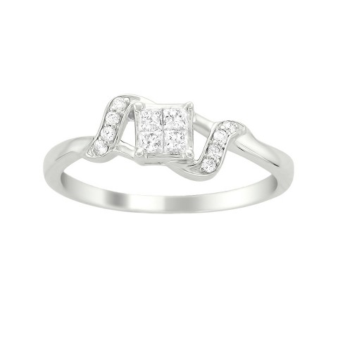 1/4 CT.T.W. Diamond Anniversary Ring in 14K White Gold - In Assorted Sizes