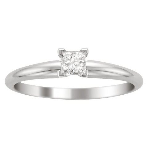 1/2 CT.T.W. Diamond Solitaire Ring in 14K White Gold - In Assorted Sizes