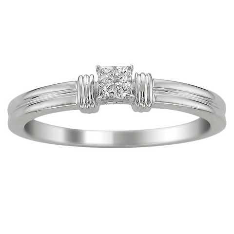 Diamond Accent Ring in 14K White Gold - In Assorted Sizes