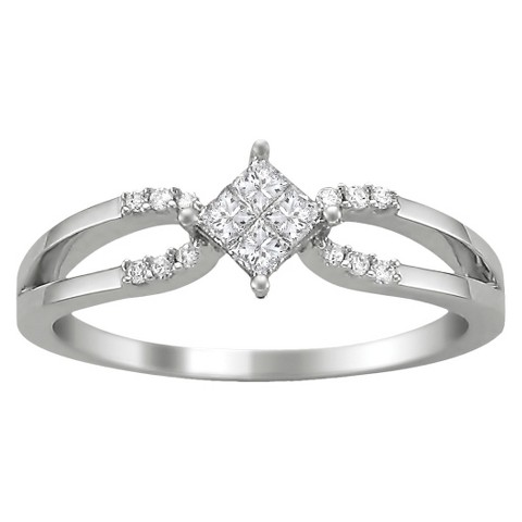 1/4 CT.T.W. Diamond Anniversary Ring in 14K White Gold - Size 7