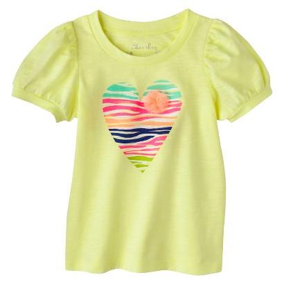 Cherokee® Infant Toddler Girls' Puff Sleeve Heart Tee