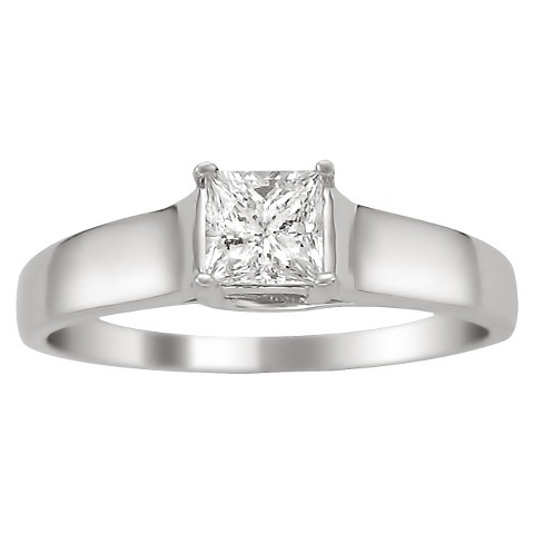 3/8 CT.T.W. Diamond Certified Solitaire Ring in 14K White Gold - In Assorted Sizes