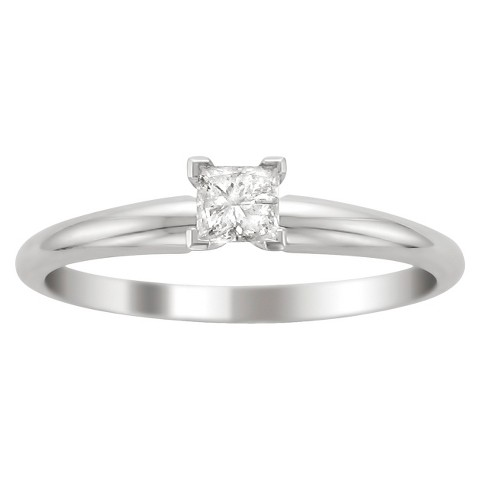 1/4 CT.T.W. Diamond Solitaire Ring in 14K White Gold - In Assorted Sizes