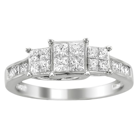 1 CT.T.W. Diamond Ring in 14K White Gold - In Assorted Sizes