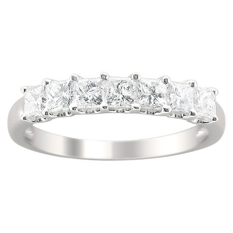 1 CT.T.W. Diamond Band Ring in 14K White Gold - In Assorted Sizes