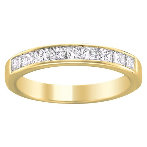 1/4 CT.T.W. Diamond Band Ring in 14K Yellow Gold - In Assorted Sizes