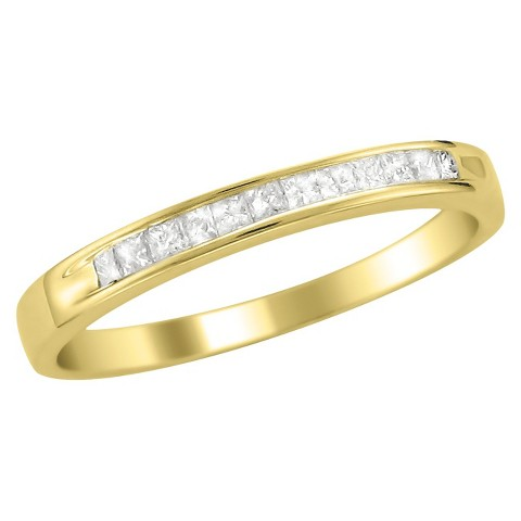 1/4 CT.T.W. Ring Band 14K Yellow Gold - In Assorted Sizes