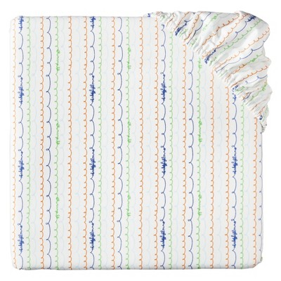 Babyletto Alphabets Mini Crib Fitted Sheet
