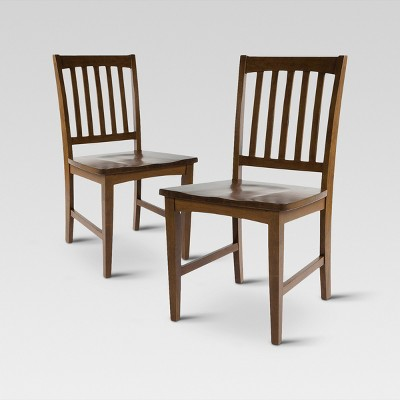 Slat Back Dining Chair - Chestnut (Set of 2) - Threshold™