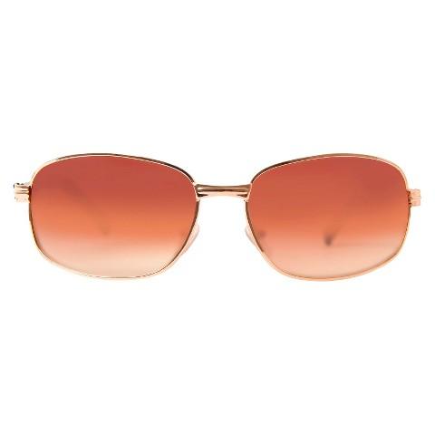 Dickies® Rectangle Sunglasses - Gold/Brown