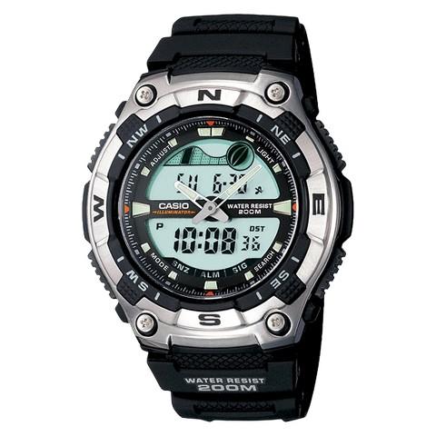 Casio Men's Active Dial Multi-Task Gear Sport Watch - Black