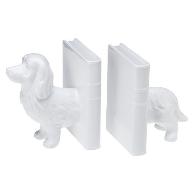 Dachshund Ceramic Bookend Set