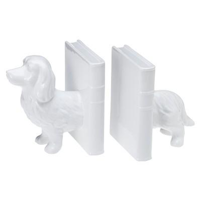 Dachshund Ceramic Bookend Set