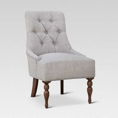 Tufted English Chair Gray - Threshold™