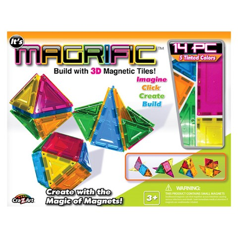 Magrific 14 piece Magnetic Tiles - Neutral