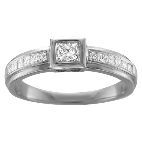 0.5 CT.T.W. Diamond Ring in 14K White Gold - In Assorted Sizes