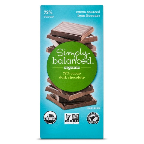 Simply Balanced 72% Cacao Chocolate Bar 3oz