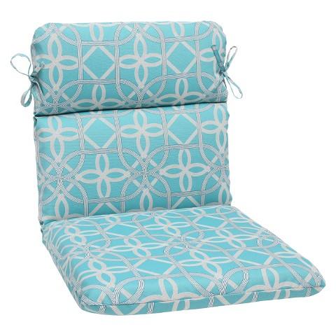 Outdoor Round Edge Chair Cushion Keene Tar
