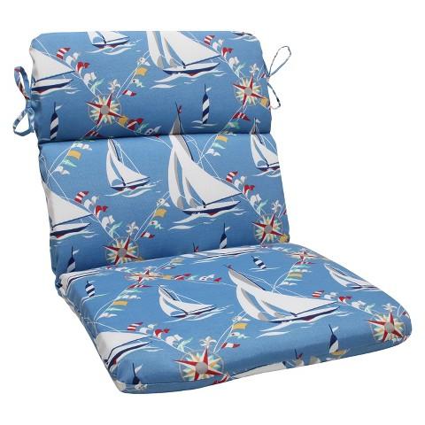 Pillow Perfect™ Outdoor Round Edge Full Seat Cushion - Set Sail