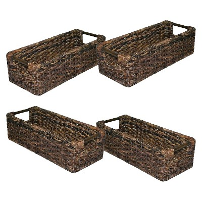 Decorative Media Storage Basket Set of 4 - Dark Global Brown - Threshold™