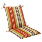 Pillow Perfect™ Outdoor Square Edge Full Seat Cushions - Roxen Stripe