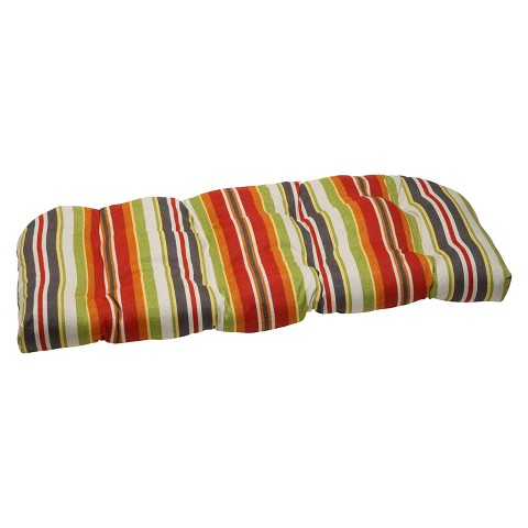 Pillow Perfect™ Outdoor Wicker Loveseat Cushion - Roxen Stripe