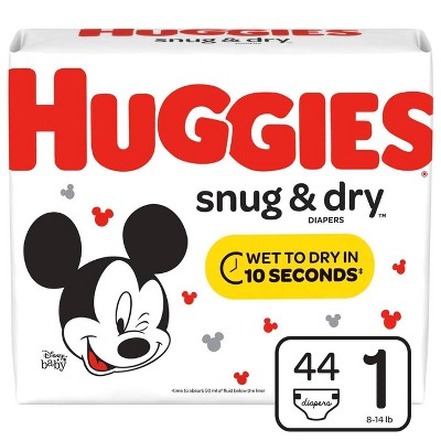 Huggies Snug & Dry Diapers Jumbo Pack Size 1 (44 Count)