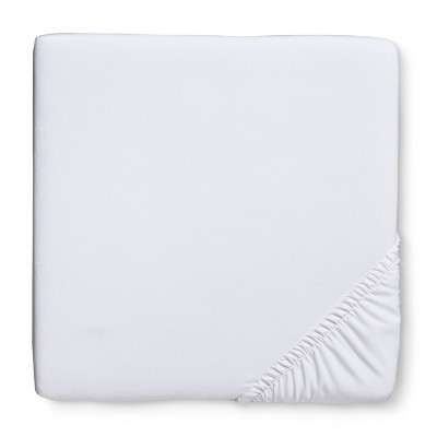 Circo™ Woven Fitted Crib Sheet - White
