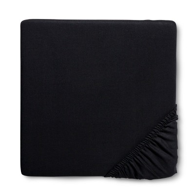 Circo™ Woven Fitted Crib Sheet - Ebony