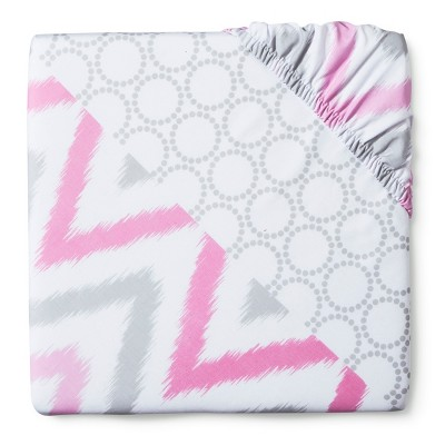 Circo™ Duo-Print Fitted Crib Sheet - Pink ZZZZ's