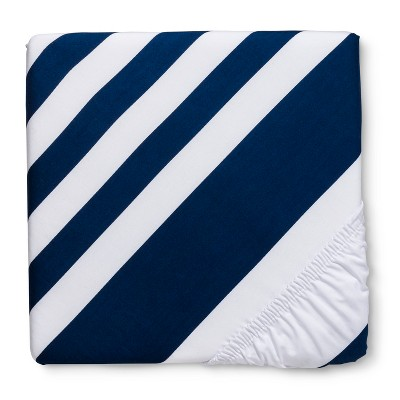 Circo™ Duo-Print Fitted Crib Sheet - Navy Stripe