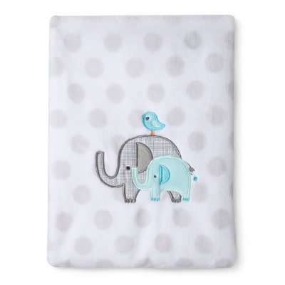 Circo® Super Soft Embroidery Blanket - Elephant Parade
