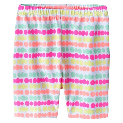 Circo® Infant Toddler Girls' Striped Polkadot Bike Short - Neon